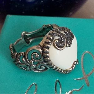 Carolyn Pollack Heart 925 Silver Ring Size 7